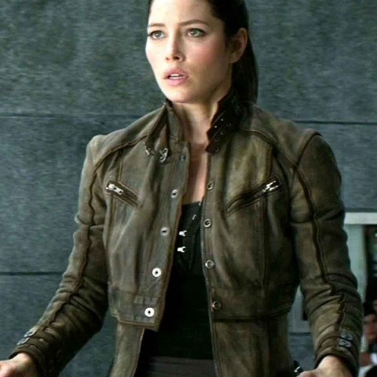Total Recall Jessica Biel Leather Jacket
