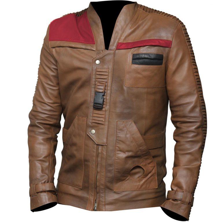 women star wars the force awakens finn leather jacket