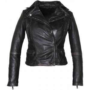 Camren Bicondova (Selina) Gotham Black Leather Jacket