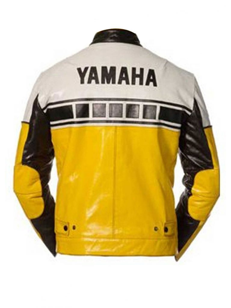 Yamaha Yellow & Black Motorcycle Leather Jacket