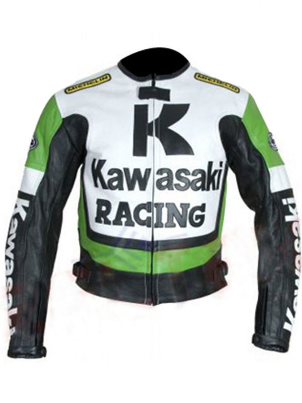 Shop-Best-seller-Green-Biker-Jacket-Kawasaki-Motorcycle-Green-White-Racing-Jacket-Uk-USA-Canada-image-1