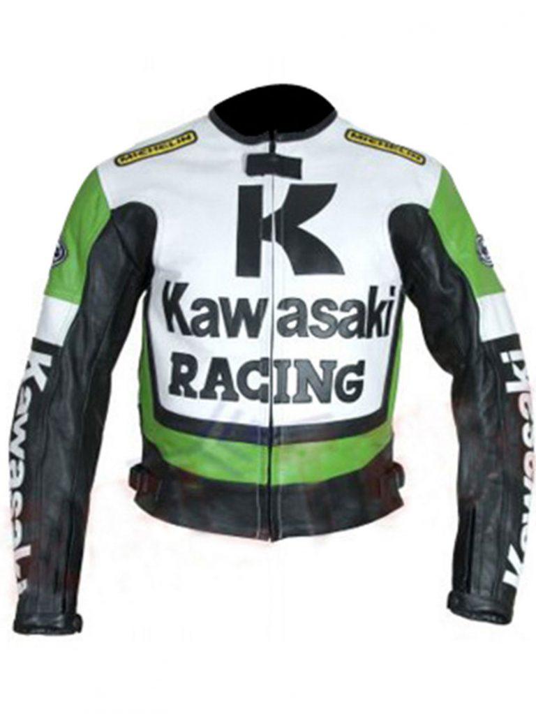 Kawasaki Motorcycle GreenWhite Racing Jacket