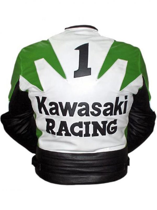 Kawasaki Motorcycle GreenWhite Racing Jacket