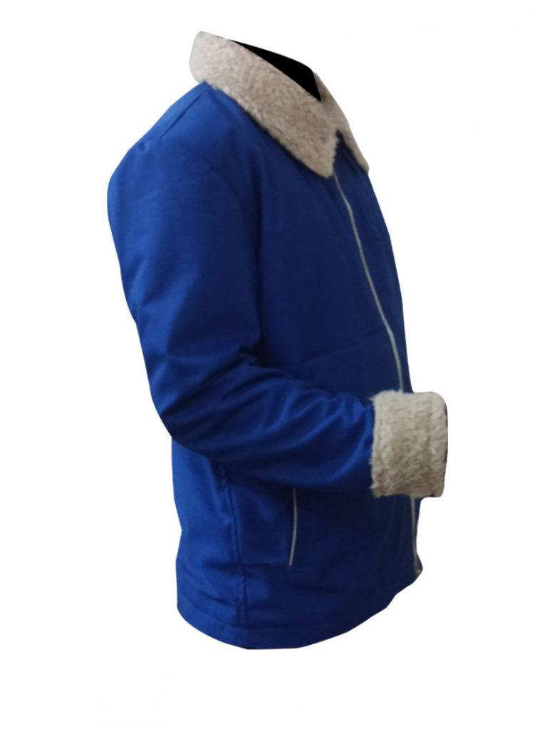 The Drop Tom Hardy Blue Cotton Jacket.