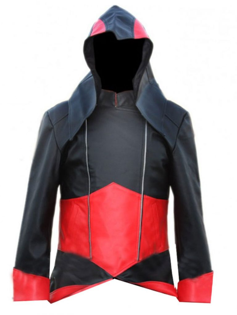 Assassin's Creed 3 Connor Kenway BlackRed Hoodie Costume