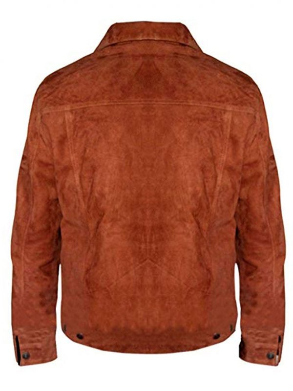 The Wolverine 3 Logan Hugh Jackman Suede Jacket.