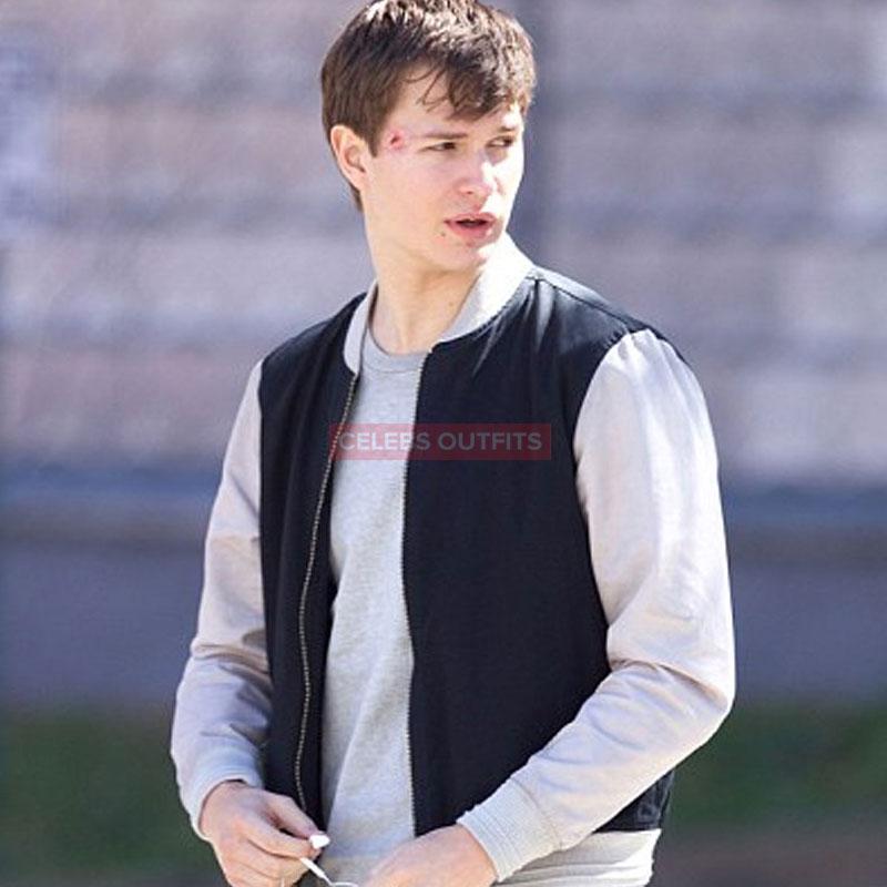 Ansel Elgort Varsity Jacket In Baby Driver Movie