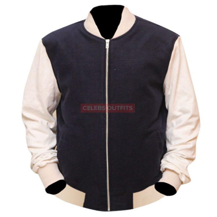 ansel elgort varsity jacket