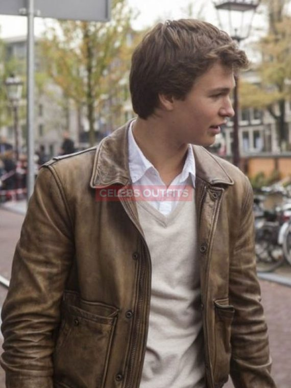 augustus waters leather jacket