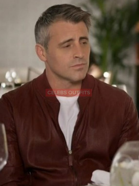 matt leblanc reddish jacket