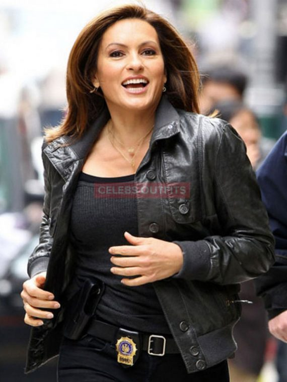 olivia benson leather jacket