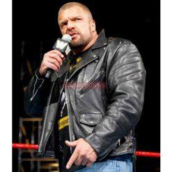 triple h leather jacket
