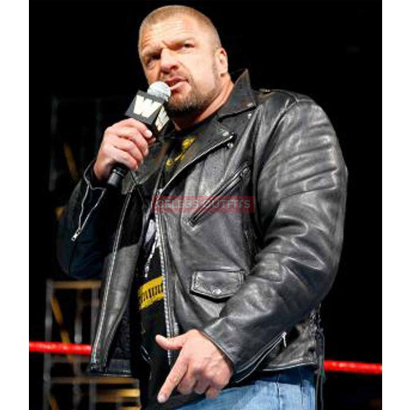 exclusive deals hot sale high quality FAMOUS WWE WRESTLER TRIPLE H LEATHER JACKET