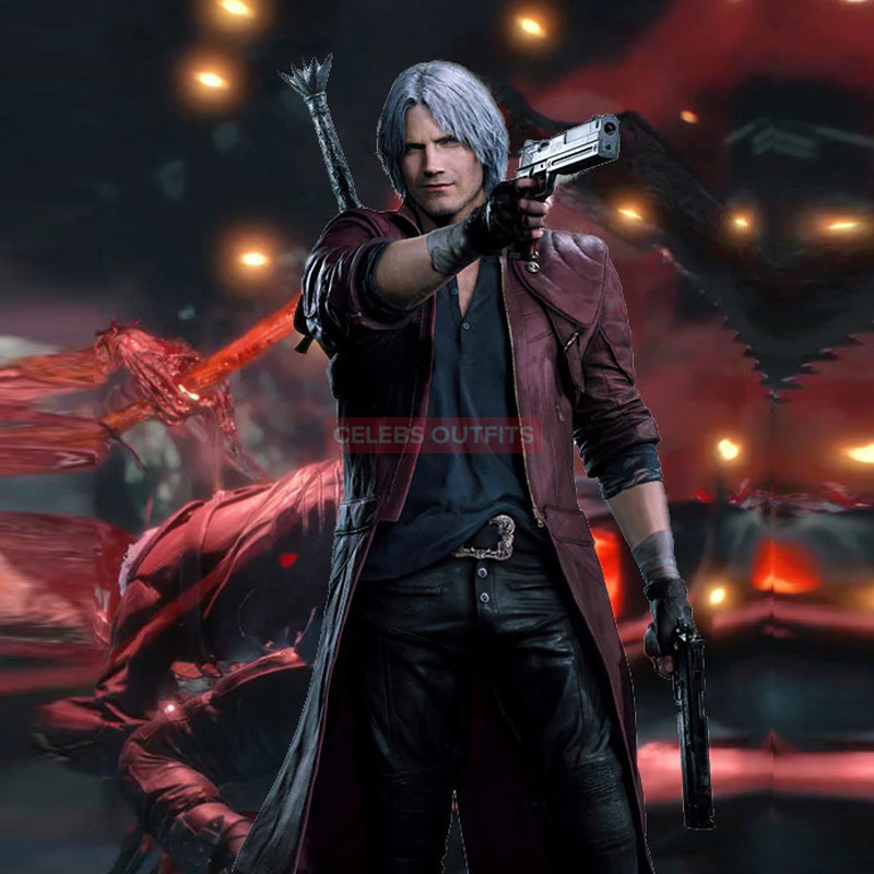 Dante Cosplay Costume In Devil May Cry 5 Video Game