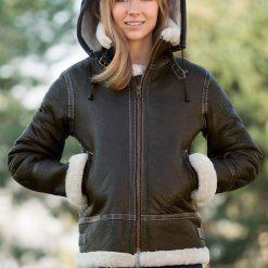 Trendy women B3 Shearling jacket