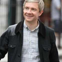 Sherlock Martin Freeman Black Jacket