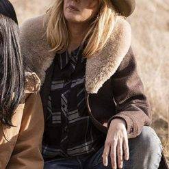 Kelly Reilly Beth Dutton Yellowstone Wool Coat