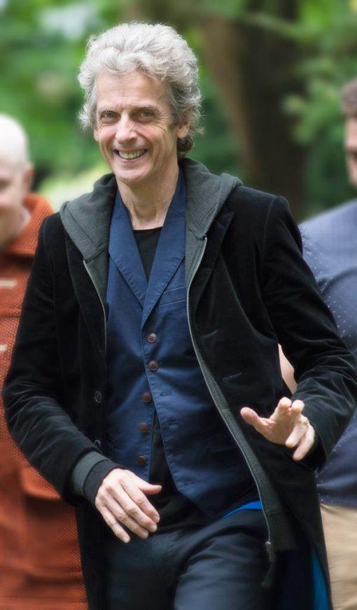 Peter Capaldi 12th Doctor Black Coat
