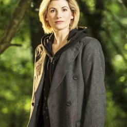 Jodie Whittaker 13th Doctor Dark Grey Coat