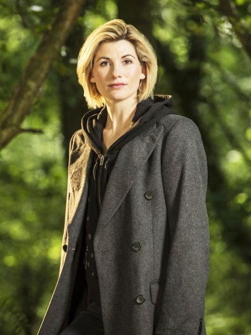 Jodie Whittaker 13th Doctor Dark Grey Coat