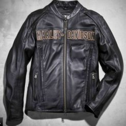Harley Davidson Men Black Leather Jacket