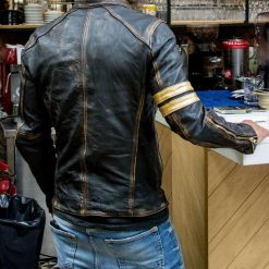 Cafe Racer Vintage Distressed Leather Jacket