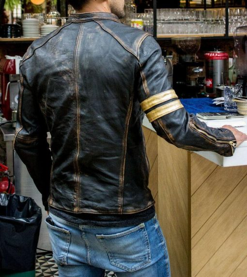 Cafe Racer Vintage Distressed Leather Jacket