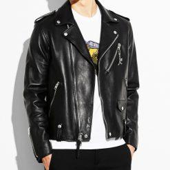 Men's Black Stylish Leather Jacket